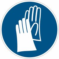 """Panneau d'obligation en aluminium """"Gants de protection obligatoires"""""""