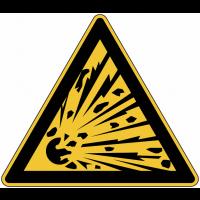 """Panneau de danger en aluminium """"Matières explosives"""""""