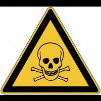 """Panneau de danger en aluminium """"Matières toxiques"""""""