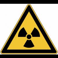 "Panneau de danger en aluminium ""Matières radioactives ou radiations ionisantes"""