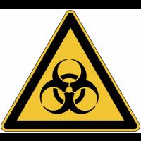 """Panneau de danger en aluminium """"Risque biologique"""""""