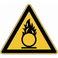 """Panneau de danger en aluminium """"Substances comburantes"""""""