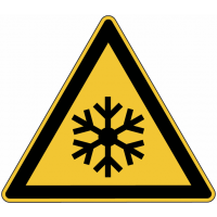 """Panneau de danger en aluminium """"Basses températures, conditions de gel"""""""