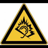 """Panneau de danger en aluminium """"Traumatisme par le bruit"""""""