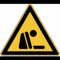 """Panneau de danger en aluminium """"Risque d'asphyxie"""""""