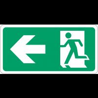 """Signalisation d'évacuation prestige """"Homme qui court, flèche à gauche"""""""