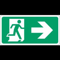 """Signalisation d'évacuation prestige """"Homme qui court, flèche à droite"""""""
