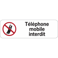 Panneau adhésif en PVC - Téléphone mobile interdit