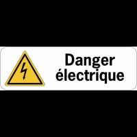 Panneau adhésif en PVC - Danger électrique