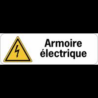 Panneau adhésif en PVC - Armoire électrique
