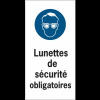 Etiquettes de sécurité en rouleau - Lunettes de sécurité obligatoires