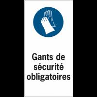 Etiquettes de sécurité en rouleau - Gants de sécurité obligatoires