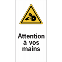Etiquettes de sécurité en rouleau - Attention à vos mains
