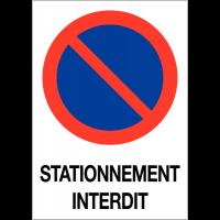 """Etiquette pour balise """"Stationnement interdit"""""""