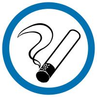 """Mini autocollants d'information """"Autorisation de fumer"""""""