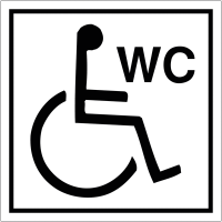 "Signalétique avec profil aluminium ""Toilettes handicapés"""