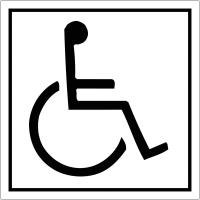 """Signalétique avec profil aluminium """"Handicapés vers la droite"""""""