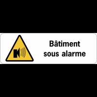 Panneau de surveillance en PVC - Bâtiment sous alarme
