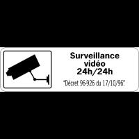Panneau de surveillance en PVC - Surveillance vidéo 24h/24h