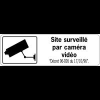 Panneau de surveillance en PVC - Site surveillé par caméra vidéo