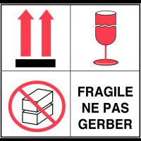 Etiquettes d'expédition multisymboles - Fragile ne pas gerber