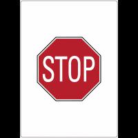 """Marquage au sol adhésif """"Stop"""""""