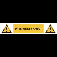 """Marquage au sol adhésif """"Danger général - Passage de chariot"""""""