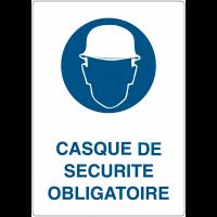 """Marquage au sol adhésif """"Casque de sécurité obligatoire"""""""