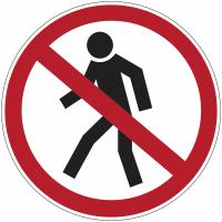 """Marquage au sol d'interdiction """"Interdit aux piétons"""""""