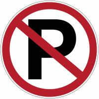 """Marquage au sol d'interdiction """"Parking interdit"""""""