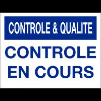 Panneau de contrôle et de qualité - Contrôle en cours