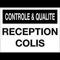 Panneau de contrôle et de qualité - Réception colis