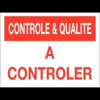 Panneau de contrôle et de qualité - A contrôler