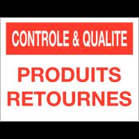 Panneau de contrôle et de qualité - Produits retournés