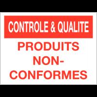 Panneau de contrôle et de qualité - Produits non-conformes