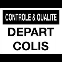 Panneau de contrôle et de qualité - Départ colis