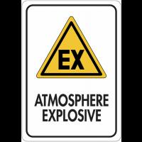 Panneau de signalisation réfléchissant - Atmosphère explosive