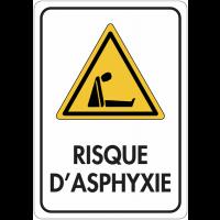 """Panneau de signalisation réfléchissant """"Danger - Risque d'asphyxie"""""""