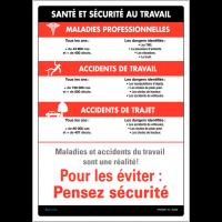 Affiche sur la santé et la sécurité au travail