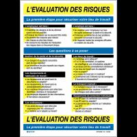 Affiche sur l'évaluation des risques au travail
