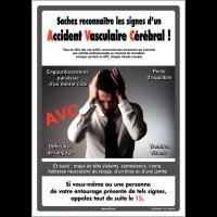 Affichage obligatoire sur les signes de l'Accident Vasculaire Cérébral