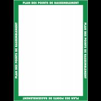 Affichage obligatoire à insert pour le plan des point de rassemblement