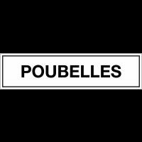 Panneau de signalisation en polypropylène - Poubelles