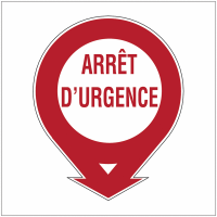 Etiquette de signalisation pour extincteurs - Arrêt d'urgence