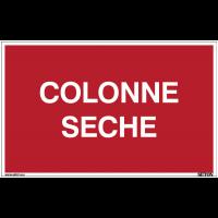Panneau avec texte sur fond rouge - Colonne sèche