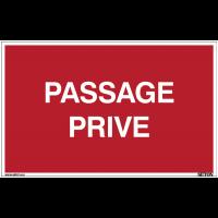 Panneau avec texte sur fond rouge - Passage privé