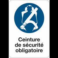 Etiquette pour véhicules - Ceinture de sécurité obligatoire