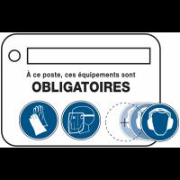 Cartes de poste sur les risques et équipements associés à compléter