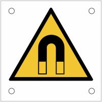 """Plaques de signalisation pour machines """"Champ magnétique important - NF"""""""