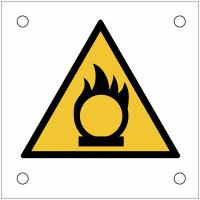 """Plaques de signalisation pour machines """"Danger substances comburantes"""""""